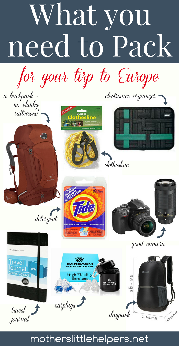 What You Need to Pack for Your Trip to Europe | European Vacation | Packing List for Vacation | Packing List for Travel | Europe Travel | Europe Travel Outfits |
