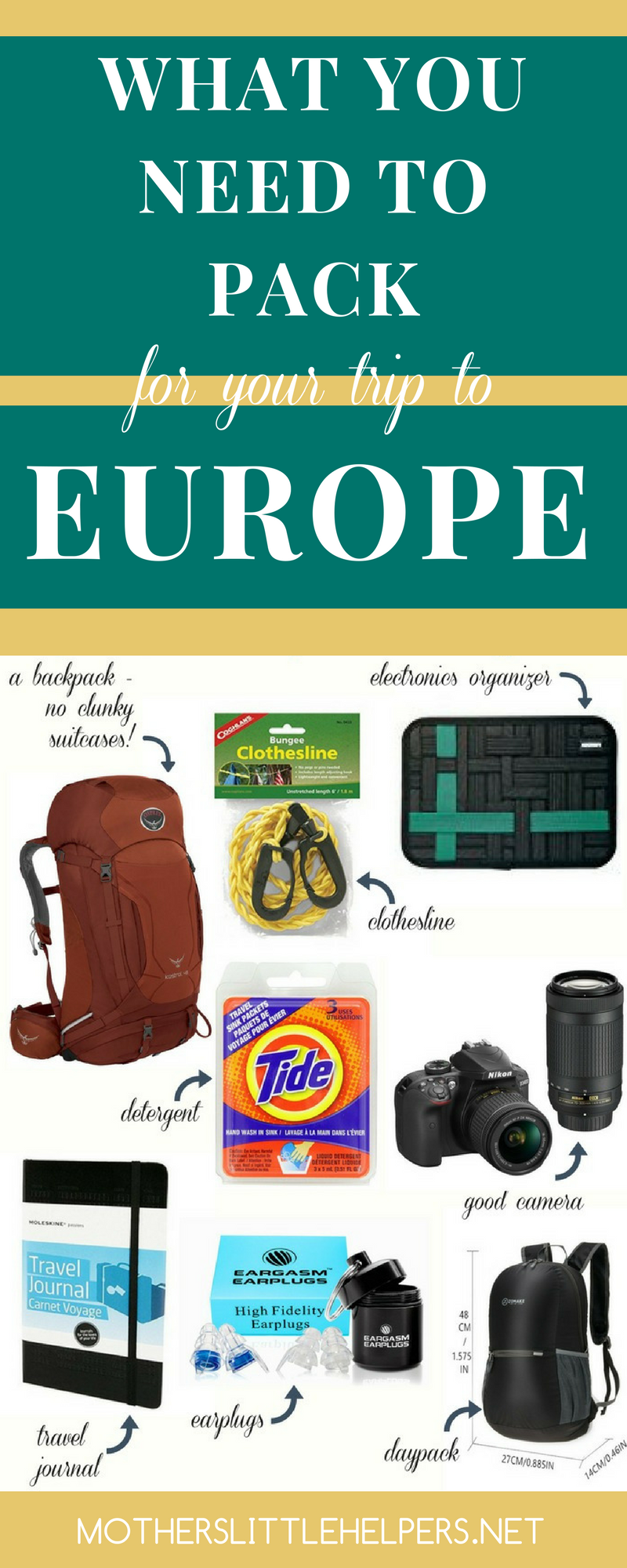 Are you planning a trip to Europe and are searching for some advice on what to pack? These FREE packing lists will help you pack efficiently for an infinite length of travel.