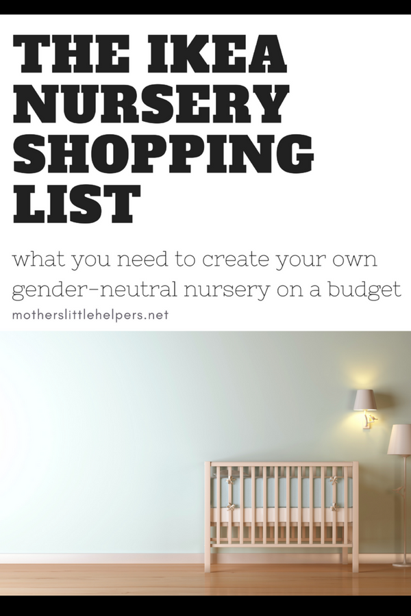 HOW TO DESIGN A NURSERY ON A BUDGET - Create a budget-friendly and gender-neutral nursery for your newborn using this shopping list of IKEA Nursery Furnishings and Ideas. Everything from the ikea baby canopy to ikea drawer organizers nursery. motherslittlehelpers.net #ikea #ikeahack #nurseryideas
