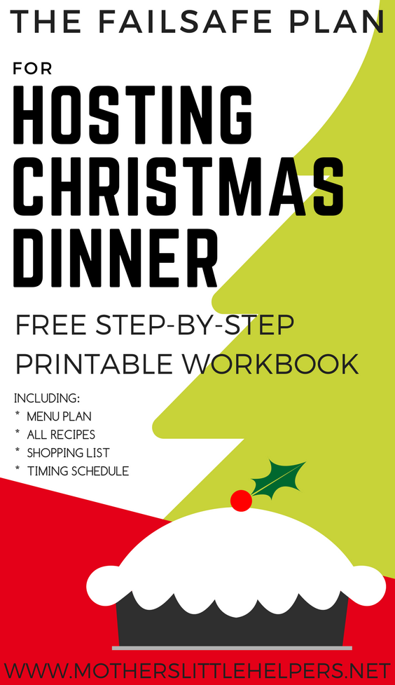The Fail-safe Plan for Hosting Christmas Dinner | How to Host an Easy Holiday Party | How to Host Your First Christmas Dinner | Christmas Dinner Printables | Christmas Dinner Workbook| Christmas Dinner Planner | Christmas Dinner planning checklist | Christmas Dinner time planner | Christmas Dinner menu planner| Christmas Dinner Checklists | Christmas Dinner Shopping Lists | Guidebook | Dinner party planner | Christmas Dinner Menu | How to Host a Christmas Party |Christmas Dinner Recipes and Ideas