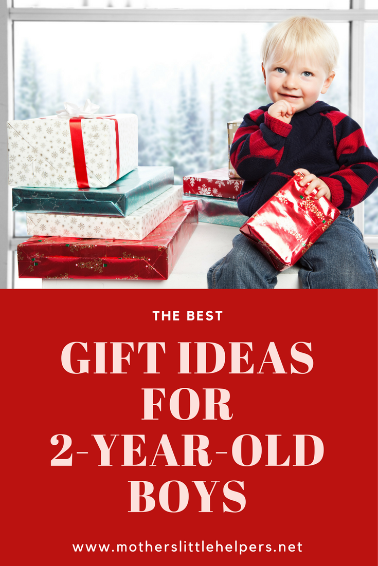 little boy ready to unwrap his presents to see the best gift ideas for two