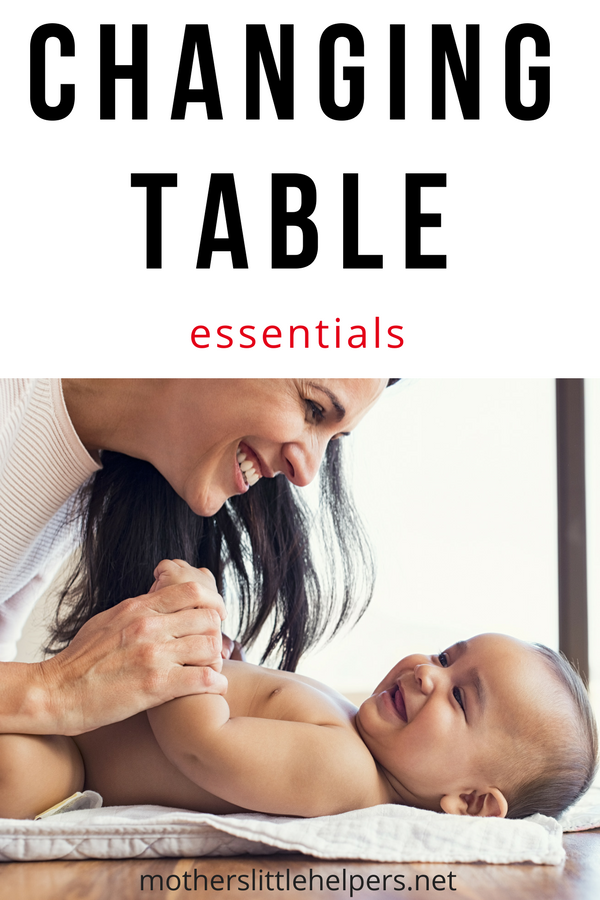 MOST IMPORTANT THINGS FOR A NEWBORN BABY - This list will help you save money on baby gear you won't need in the beginning. Get your changing table stocked up and organized with the necessary supplies before baby comes. Designed for the nesting mommy-to-be setting up her first diapering station. #diaper #newborn #babygear