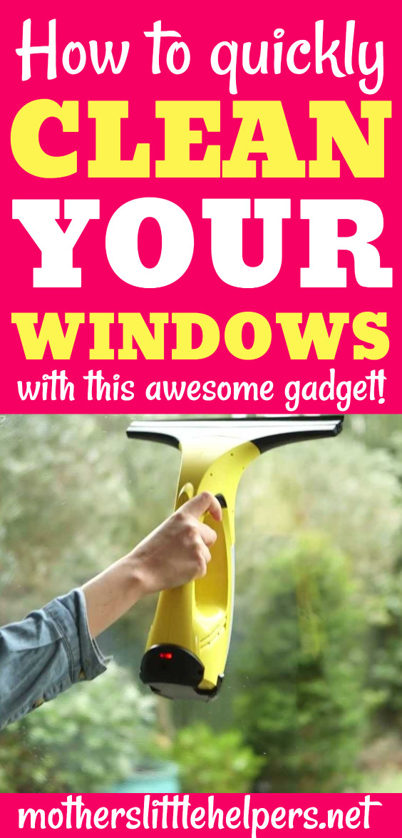 WINDOW CLEANING TIPS - Are you looking for a way to wash windows without drips and streaks? Learn how to clean your windows quickly and efficiently using the Karcher window vac. #windowcleaning #cleaningtips