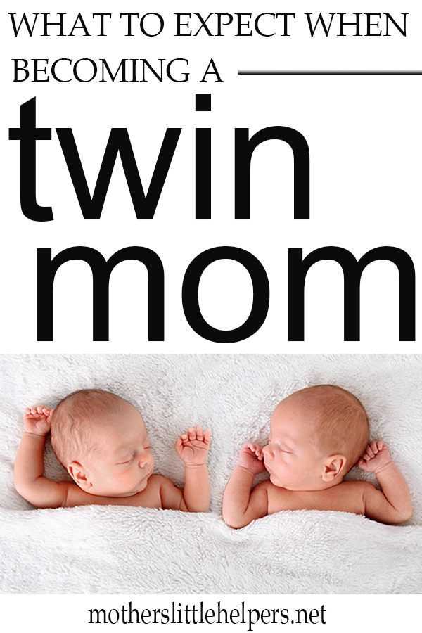 This beginner's guide for twin moms includes tips for what to do when you find out you're pregnant with twins, helpful resources for twin pregnancy, and hacks for twins. This is a great place to start if you just found out you're becoming a mom of twins. #momoftwins #newtwinmom #twinpregnancy #newborntwins #twinbabygear motherslittlehelpers.net