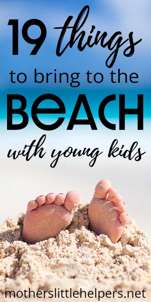MUST-PACK BEACH ITEMS FOR YOUNG KIDS - Planning is key to having a perfect day at the beach with young kids. Make sure you have everything you need by creating a beach day packing list. Here's a basic list of what you need to bring to the beach with small children. You don't want to pack to much, but you don't want to miss any toddler beach essentials. #beach #beachgear #beachpackinglist #beachessentials #toddlerpackinglist #toddleratthebeach #perfectbeachday motherslittlehelpers.net