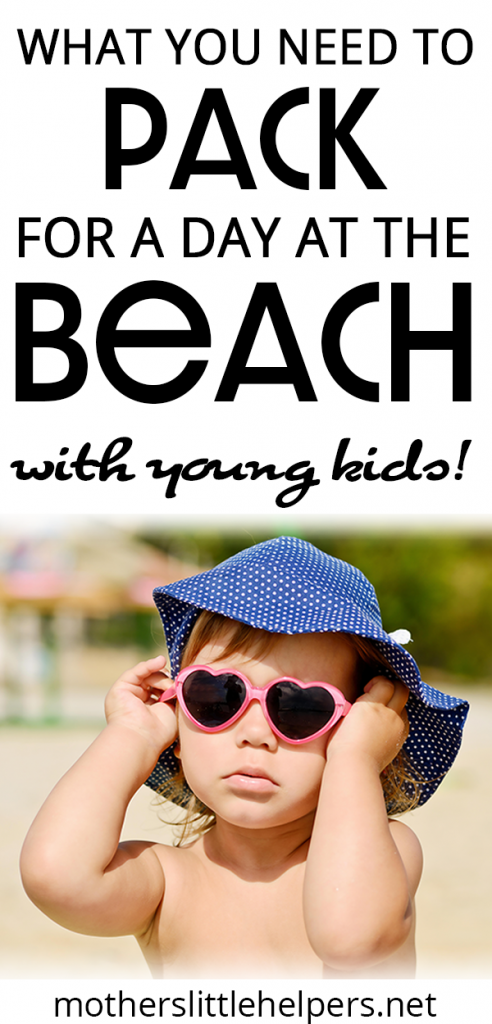 BEST BEACH GEAR FOR YOUNG KIDS - Planning is key to having a perfect day at the beach with young kids.  Make sure you have everything you need by creating a beach day packing list.  Here's a basic list of what you need to bring to the beach with small children.  You don't want to pack to much, but you don't want to miss any toddler beach essentials. #beach #beachgear #beachpackinglist #beachessentials #toddlerpackinglist #toddleratthebeach #perfectbeachday motherslittlehelpers.net