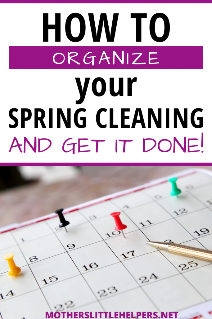 Learn how to organize your spring cleaning and get it over with fast! Step-by-step: plan, purge, declutter, reorganize, repair and clean from top to bottom.